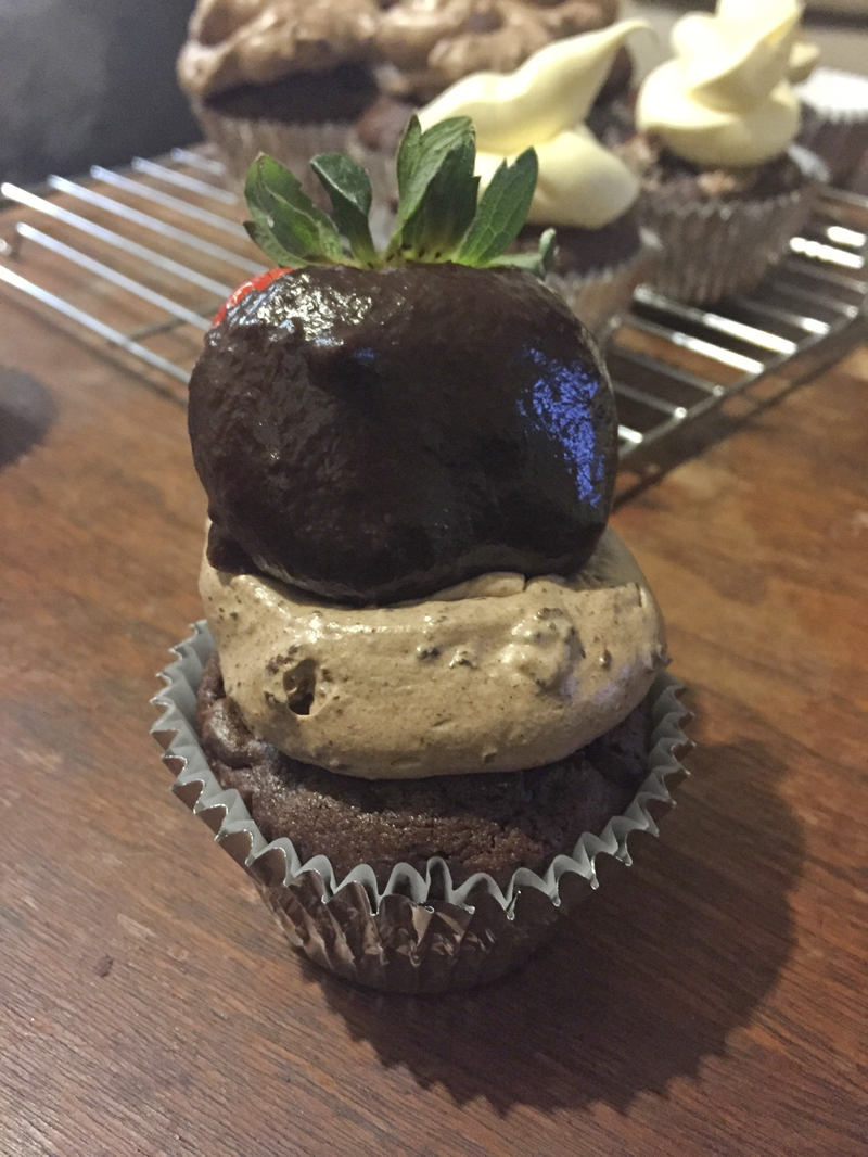#PinPossible: Double Chocolate Chip Frappucino Cupcakes