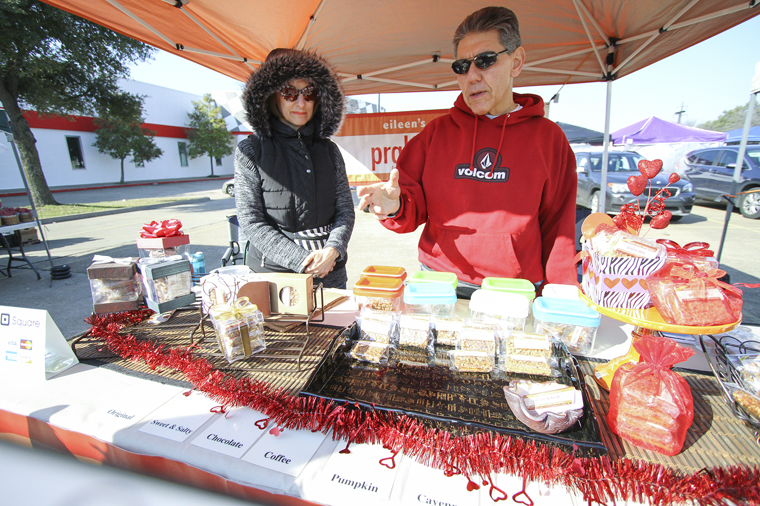 Eileen and Jack Scheib run Eileen's Pralines together after their son suggested starting a business selling her homemade praline bars.