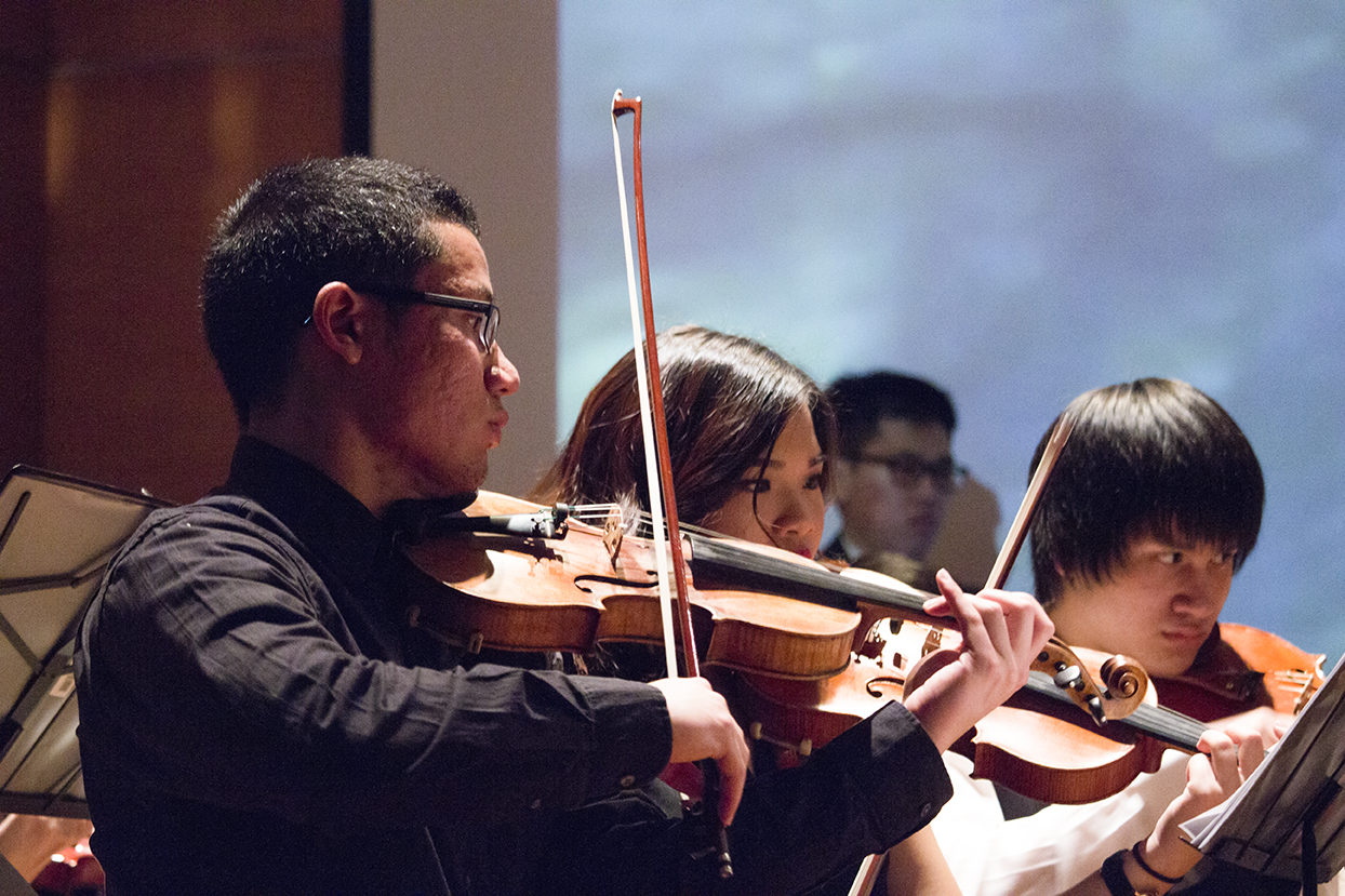 Club orchestra features anime music