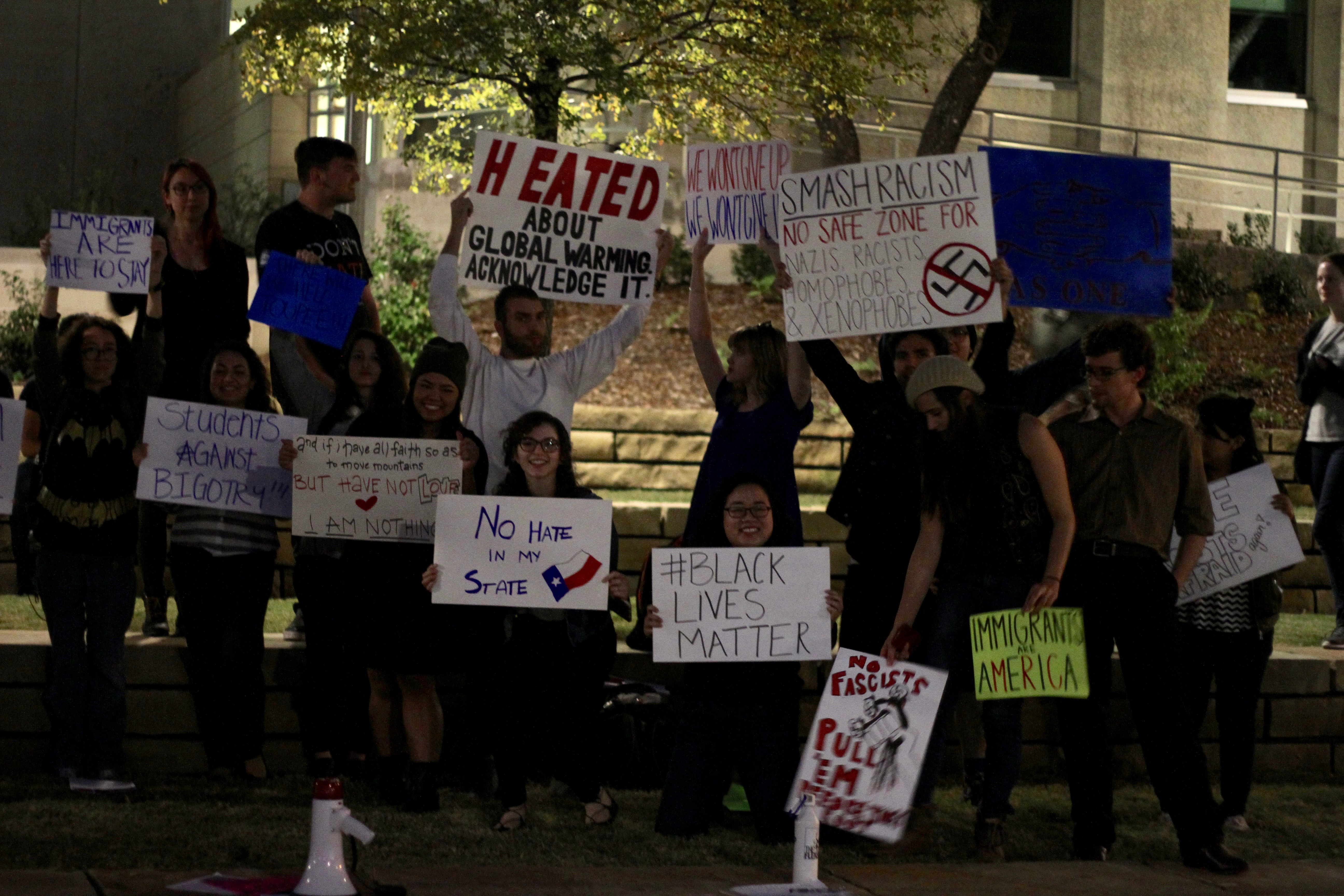 Students organize anti-hate rally on campus