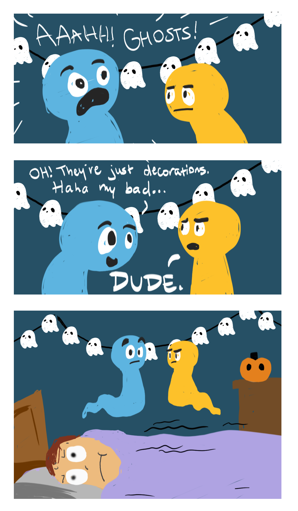 Ahhh! Ghosts!