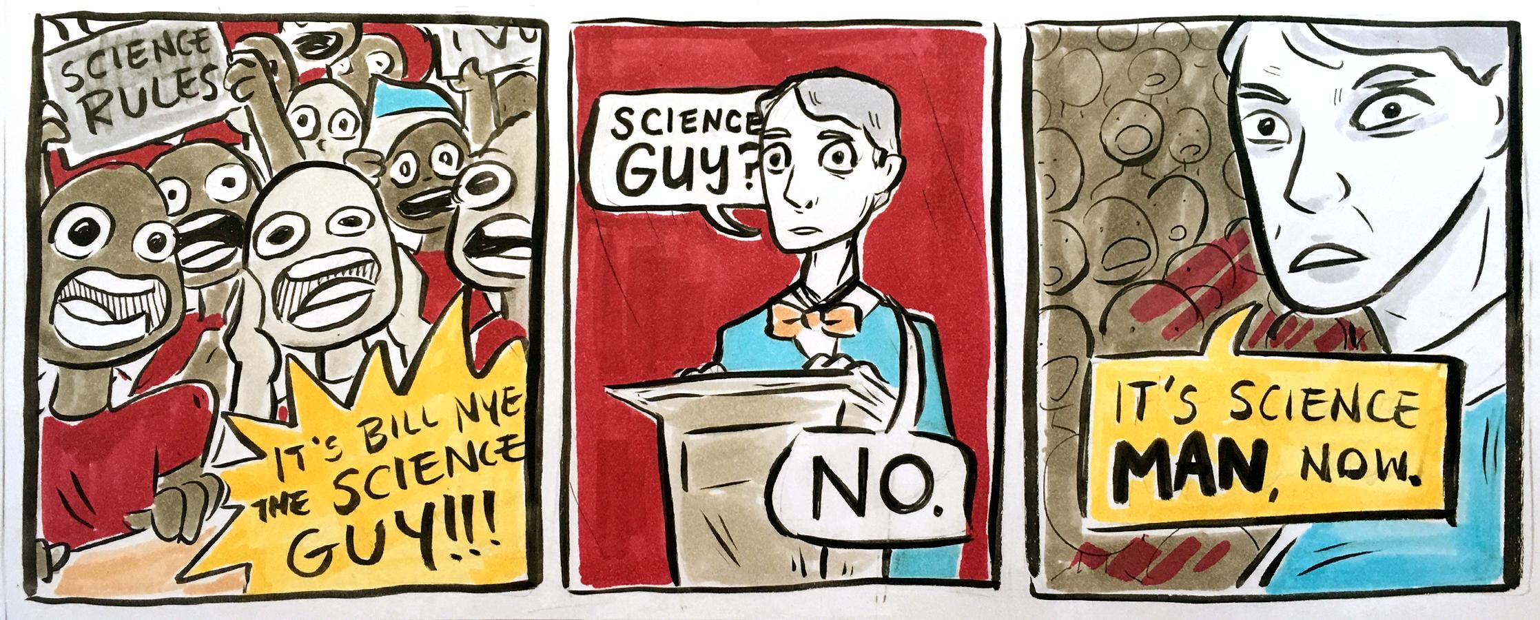 Science man