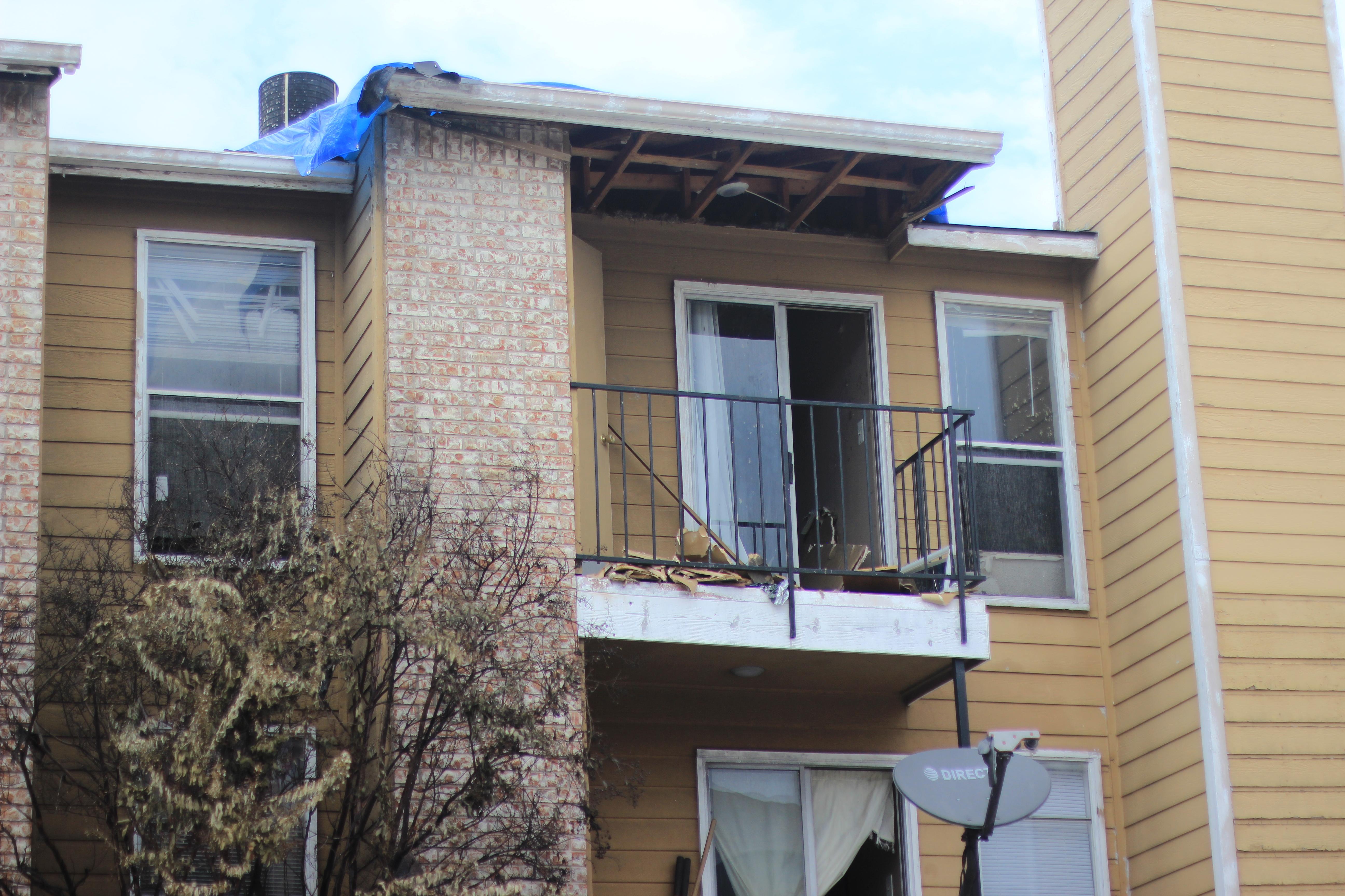 Fire at McCallum apartments damages building