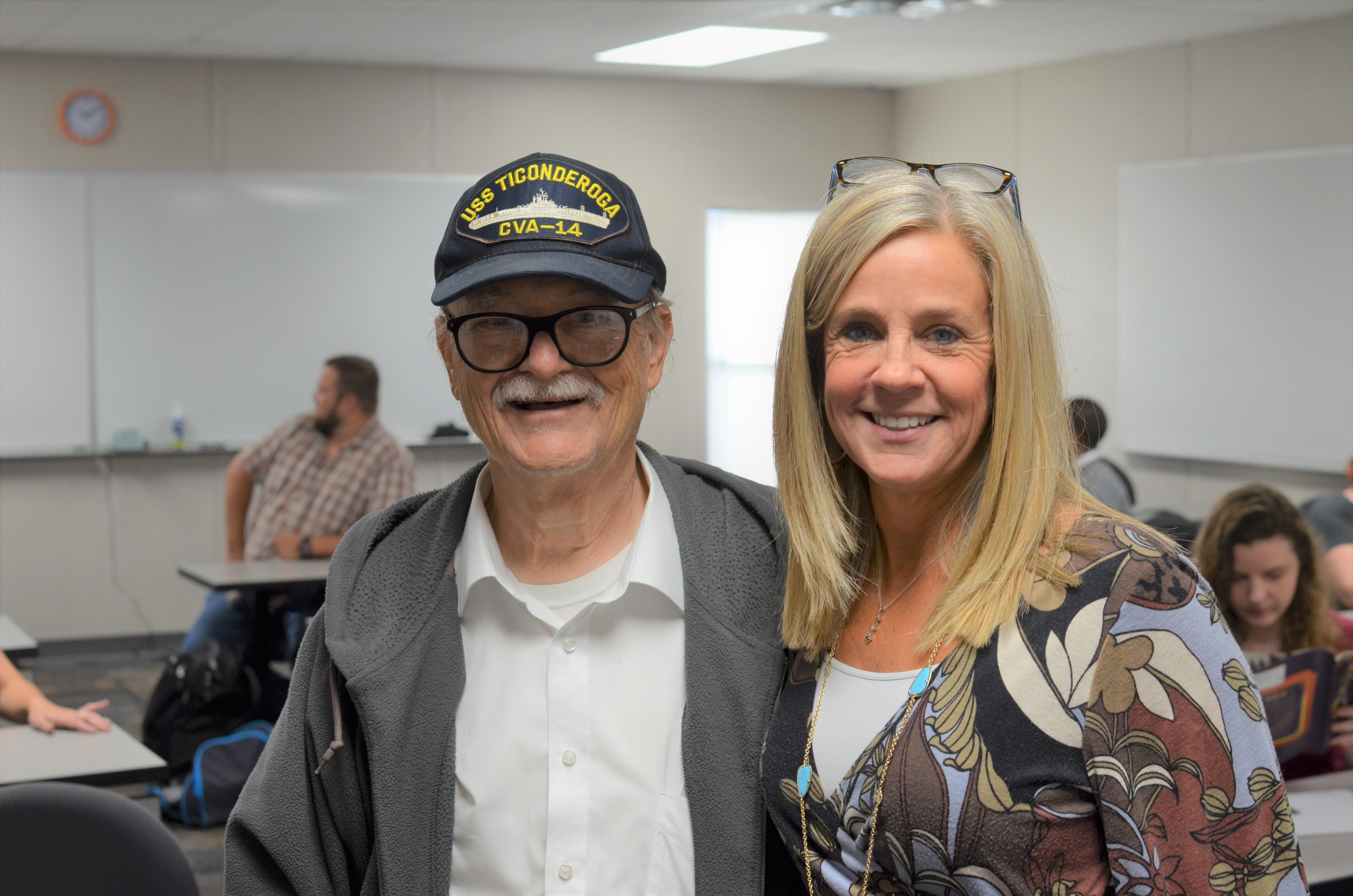 Veteran spreads laughter