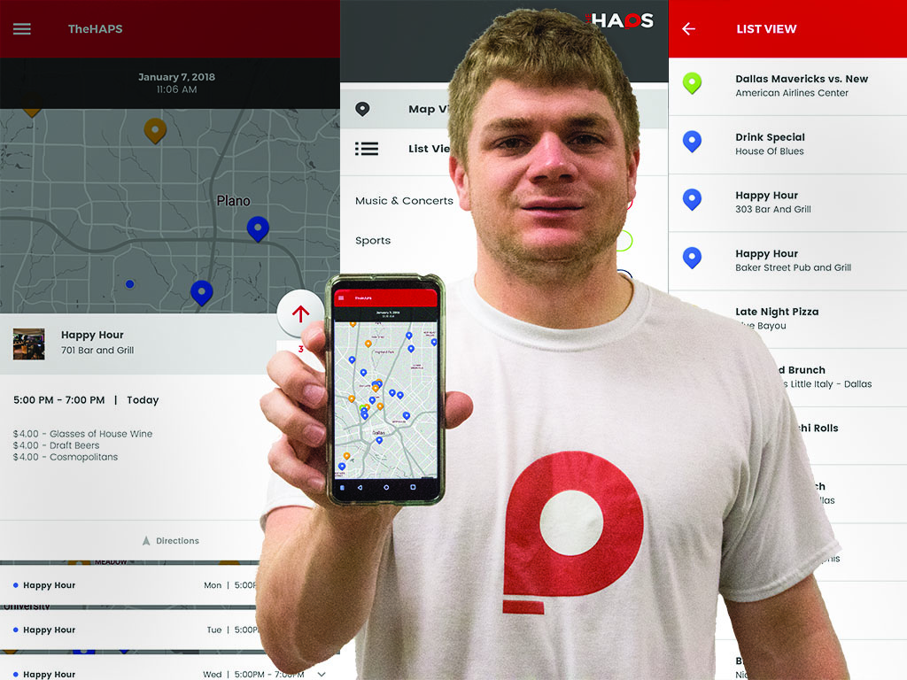 Students create startup app to track local events in real time