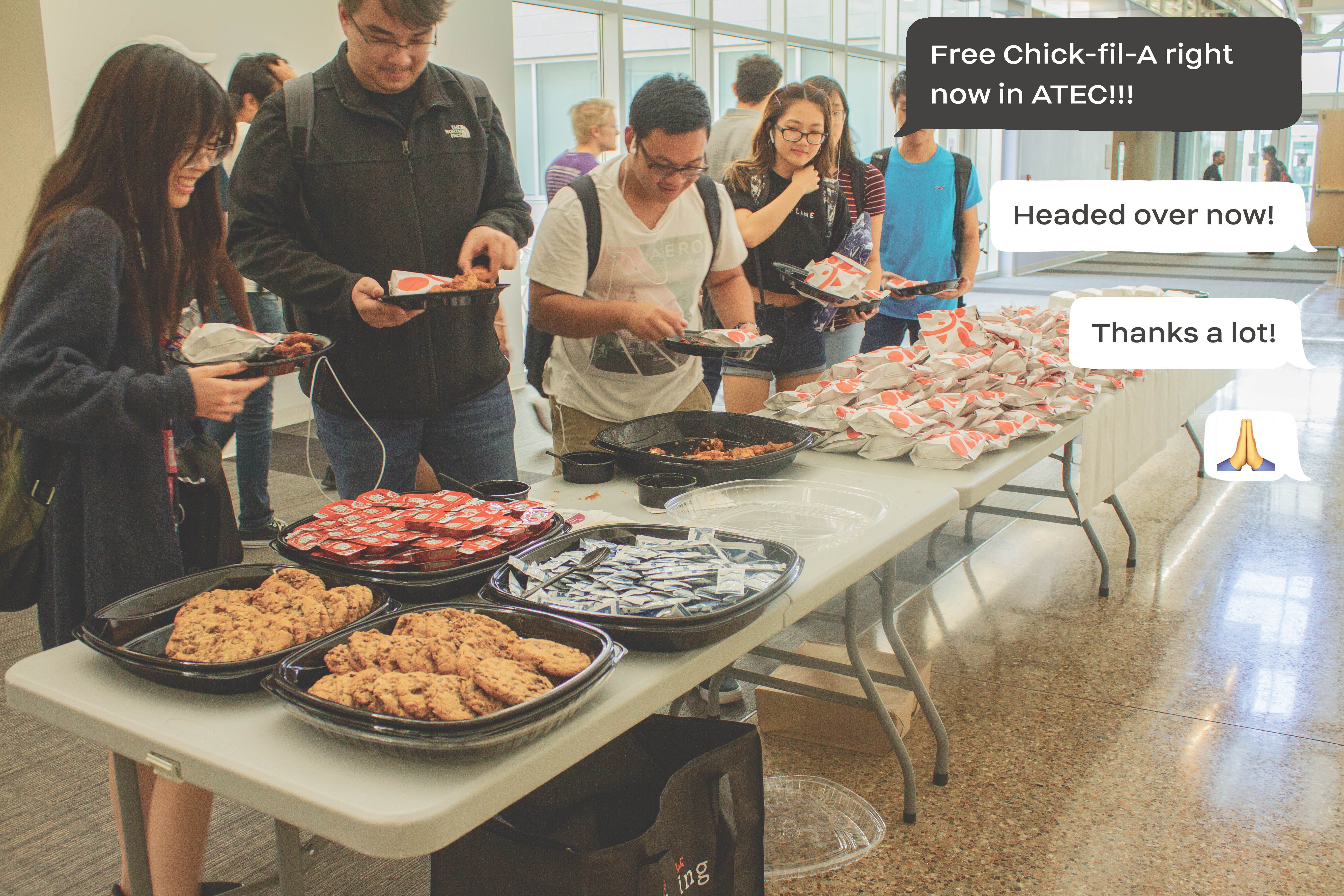 Students 'Finesse' Free Food using Community Chat