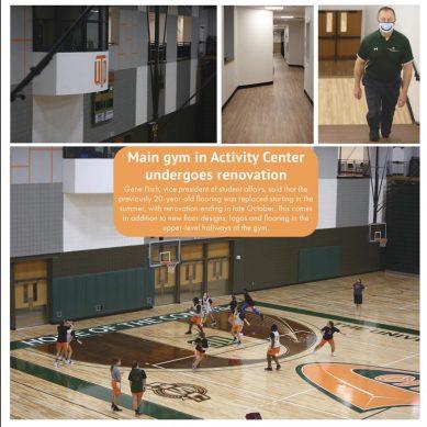 Main gym in Activity Center Undergoes Renovation
