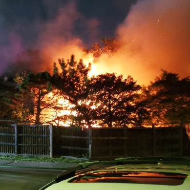 Fire near campus